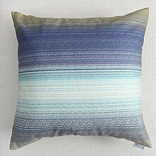 uus Moderne Sofa Kissenbezug Einfache Streifen Fashion Style Breathable Natürliche Baumwoll Sofa Stuhl Auto Fenster Bett Kissenbezug ( Farbe : M , größe : 55*55cm )