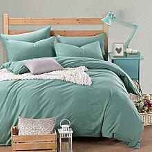 uus Moderne Verdickte Warme Vierteilige Einfarbige Herbst Und Winter Bettwäsche Bettlaken * 1 Quilt * 1 Kissenbezug * 2 Vierteilige 1,5 / 1,8 M Bett Set ( Farbe : L , größe : 1.8m )