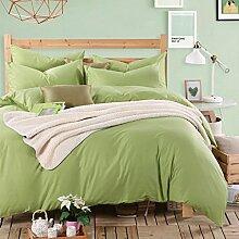 uus Moderne Verdickte Warme Vierteilige Einfarbige Herbst Und Winter Bettwäsche Bettlaken * 1 Quilt * 1 Kissenbezug * 2 Vierteilige 1,5 / 1,8 M Bett Set ( Farbe : C , größe : 1.5m )
