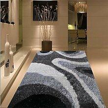 uus Moderner rutschfester Teppich aus reiner Farbe, super weicher Teppich, wichtig für den Winter, Natur Komfortable Warm verdickte Indoor / Outdoor Teppich 140cm * 200cm ( Design : P )