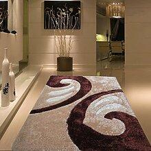 uus Moderner rutschfester Teppich aus reiner Farbe, super weicher Teppich, wichtig für den Winter, Natur Komfortable Warm verdickte Indoor / Outdoor Teppich 140cm * 200cm ( Design : E )
