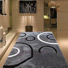 uus Moderner rutschfester Teppich aus reiner Farbe, super weicher Teppich, wichtig für den Winter, Natur Komfortable Warm verdickte Indoor / Outdoor Teppich 140cm * 200cm ( design : C )