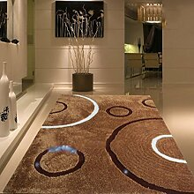 uus Moderner rutschfester Teppich aus reiner Farbe, super weicher Teppich, wichtig für den Winter, Natur Komfortable Warm verdickte Indoor / Outdoor Teppich 140cm * 200cm ( design : B )
