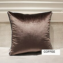 uus Modernes Art-Sofa-Kissen der reinen Farbe Weiche Rückstoß-Stuhl-Kissen-Sofa-Kissen-Bett-Kissen Windows-Kissen Kerean Art-reines Farben-Kissen 50 * 50cm ( Farbe : N )