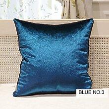 uus Modernes Art-Sofa-Kissen der reinen Farbe Weiche Rückstoß-Stuhl-Kissen-Sofa-Kissen-Bett-Kissen-Windows-Kissen Kerean Art-Kissen 45 * 45cm ( Farbe : L )