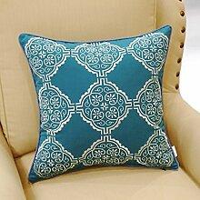 uus Modernes einfaches Muster-Sofa-Kissen Einfach, Kissen-Sofakissen-Stuhl-Kissen-Auto-Sitzkissen zusammenzubringen Weiches u. Bequemes Kissen 45 * 45cm ( MUSTER : L )