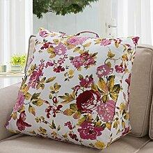uus Modernes kreatives Dreieck-Sofa-Kissen-populäres quadratisches Muster-Nachttisch-Kissen-Büro-Stuhl-Kissen ( Farbe : D )