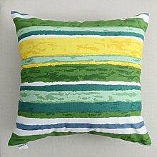 uus Modernes Sofa-Kissen mit atmungsaktivem abnehmbarem Bezug mit Pp-Baumwoll-Füllung Einfache Streifen-Mode-Art Weiche und bequeme Sofa-Stuhl-Fenster-Bett-Kissen ( Farbe : O , größe : 55*55cm )