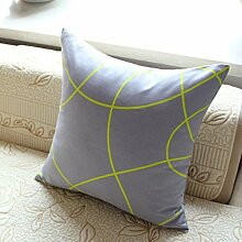 uus Modernes Sofa-Kissen mit atmungsaktivem abnehmbarem Bezug mit Pp-Baumwoll-Füllung Einfache Streifen-Mode-Art Weiche und bequeme Sofa-Stuhl-Fenster-Bett-Kissen ( Farbe : N , größe : 55*55cm )