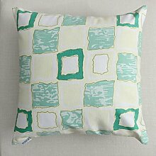 uus Modernes Sofa-Kissen mit atmungsaktivem abnehmbarem Bezug mit Pp-Baumwoll-Füllung Einfache Streifen-Mode-Art Weiche und bequeme Sofa-Stuhl-Fenster-Bett-Kissen ( Farbe : H , größe : 30*45cm )