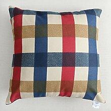 uus Modernes Sofa-Kissen mit atmungsaktivem abnehmbarem Bezug mit Pp-Baumwoll-Füllung Einfache Streifen-Mode-Art Weiche und bequeme Sofa-Stuhl-Fenster-Bett-Kissen ( Farbe : G , größe : 45*45cm )