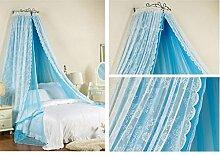 uus Moskito Bett Bett 1.5m Bett 1.8m Bett Doppelbett Kunstatmosphäre Prinzessin Wind Europa Hause Moskito Moskito Schädlingsbekämpfung Staub Safe Netze ( Farbe : E , größe : 1.2m Bed )