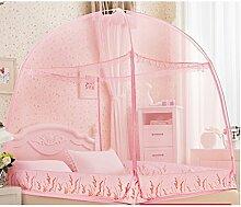 uus Moskitonetze Jurte ohne Boden voller Farbe Doppelmoskito Hause wesentlich ( Farbe : Pink )
