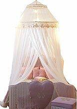 uus Moskitonetze zur Stärkung der kreisförmigen Kuppel Decke Moskitonetze 1,8 m Bett Prinzessin Palace 1,5 Doppelte Etage runde Bett Decke verbunden mit Anti-Moskito Schädlingsbekämpfung Moskitonetze ( Farbe : Jade Farbe , größe : 1.2m Bed )