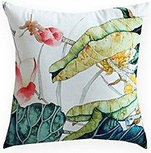 uus Neue Sofa Kissen chinesische Tinte Malerei Kunst Kissen Sofa mit Core Kissen Auto Taille Kissenbezug Kissenbezug mit guten PP Baumwolle Füllung ( Farbe : B , ausgabe : Cushion )