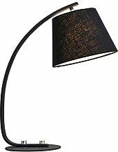 uus Nordic Creative Schreibtisch Lampe Schlafzimmer Nachttisch Europäische Hochzeit Modern Einfache und warme Wohnzimmer Study Lampe ( Farbe : Schwarz )