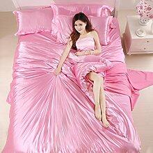 uus Reine Baumwolle Weiche Vierteilige, Warme Doppelschicht Baumwolle Vierteilige, Einfache Art Bett Vier Sätze, 1.5 / 1.8M Bett ( Farbe : C , größe : 1.5m )