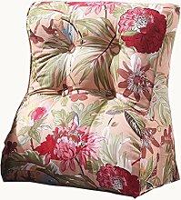 uus Rosa / rotes Dreieck-Sofa-Kissen-Stuhl-Sitz Nützliches Blumen-Muster-Kissen Langsamer Rückstoß Ergonomischer Entwurf Bequeme Rückenlehne 45 * 55cm / 55 * 60cm ( größe : 45*55cm )