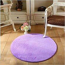 uus Runde feste Stuhl-Matte Innen- / im Freienteppich-Küche-Matten-Badezimmer-rutschfester Wolldecke-Plastik bedeckte Unterseite Kerean Art-nettes Wohnzimmer-Teppich OD = 80cm; OD = 100 cm; OD = 120 cm; ( Farbe : H , größe : M )