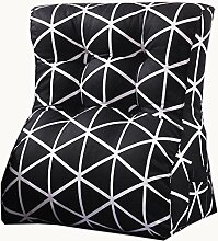 uus Schwarzweiss-Dreieck-Sofa-Kissen-Stuhl-Sitz Nützliches quadratisches Muster-Kissen Langsamer Rückstoß Ergonomischer Entwurf Bequeme Rückenlehne 45 * 55cm / 55 * 60cm ( größe : 55*60cm )