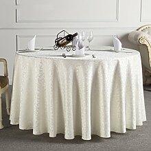 uus Shiny runde Tischdecke mit goldenem Muster geeignet für Esszimmer Tisch Restaurant Couchtisch Europäische Picknickauflage Tischdecke Durchmesser 180cm ( Farbe : E )