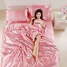 uus Solid Cotton Soft Vierteilige, Warme Doppelschicht Baumwolle Vierteilige, Einfache Art Bed Quartett, 2 / 2.2M Bett ( Farbe : N , größe : 2.2m )