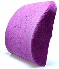 uus Solide Ergonomische Fast-Rebound Sofa Kissen High-Density Memory Foam Füllen Gute Rückenlehne Taille Pflege Stuhl Kissen ( Farbe : Lila )