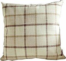 uus Weiß Quadrat Muster Sofa Kissen Stuhl Kissenbezug Pure Farbe Verdicken Leinen Material Breathable Gute Qualität PP Baumwolle ( ausgabe : Cover , größe : 55*55cm )