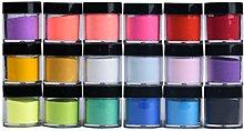 UV Gel Puder 18 Farben Acryl Nail Art Tipps UV Gel Pulver Staub Design Dekoration 3D DIY Dekoration Se