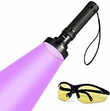UV Taschenlampe Schwarzlichtlampe mit 100 LEDs