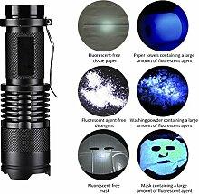 UV-Taschenlampe Taschenlampe Schwarz licht für Pet Urin Erkennung LED UV-Schwarzlicht Detektor Hund Flecken Bett Bug auf Teppich Teppiche Boden Scorpion Mini Handheld lights365nm violett Multifunktions-Lampe Fluoreszierend Agen
