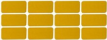 UvV 12 Stück Reflektor Sticker Aufkleber 60 x 30