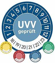 UVV geprüft Prüfplaketten Wartung 30mm Ø blau