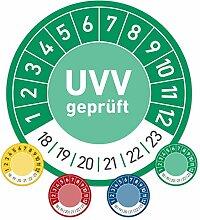 UVV geprüft Prüfplaketten Wartung 30mm Ø grün