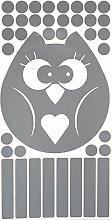 UvV-Shop RA2 Folie - 2 x Eule (Owl, Aves, Kauz,