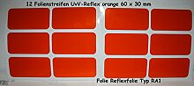 UvV-Shop Reflektor Sticker Aufkleber, 12 Stück 60