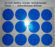 UvV-Shop Reflektoren Sticker Aufkleber, 12 Stück