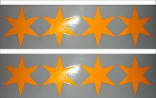 UvV-Shop Stern Sticker Aufkleber, 8 Stück je 80