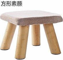 UWSZZ Home - Einfache Massivholz Wohnzimmer Hocker kleine Sitzbank kleine quadratische Hocker erwachsene Kinder aus Baumwollgewebe sofa Bank schuh Sitzbank Platz: kein Make-up