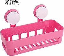 UWSZZ Leistungsstarke dual Saugnapf rack Badezimmer Wand Regal bad Regal Küche Verbrauchsmaterialien Rosa