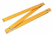 uxcell Faltlineal Metrisches Messwerkzeug Holz