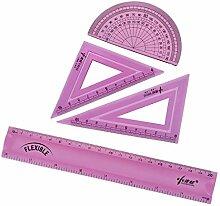 uxcell Flexibles Messwerkzeug-Set mit Winkelmesser