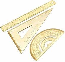 uxcell Messwerkzeug Set mit Winkelmesser 30/60
