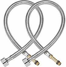 uxcell Wasserhahn-Zuleitungsverbinder 1/2 Zoll IPS