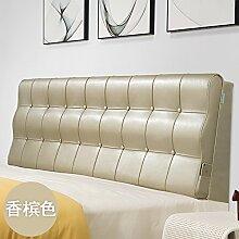 UYHSAUDGHFHE Bed soft cushioning Kissen Soft bag large backrest Kissen Double tatami bedside cover Leather cushion-B 180x60x10cm(71x24x4inch)