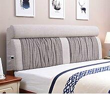 UYHSAUDGHFHE Bett stoff soft bag Polsterung aus dem bett Zurück Bett tatami leinenkissen-D 180x60cm(71x24inch)