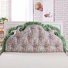 UYHSAUDGHFHE Koreanisches volles baumwoll bett kissen Bett soft bag Großes rücken bett Princess garten kissen Doppel sofa kissen-J 120x70cm(47x28inch)
