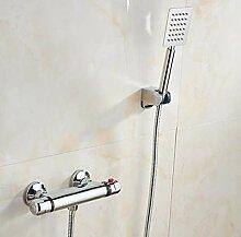 UZSYLE Thermostat-Bad-Hahn Mit Handbrause Wand