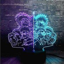 Uzumaki Naruto Familienlampe 3D Lava LED Sensor