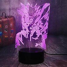 Uzumaki Naruto & Kyuubi 3D Visual Nachtlicht LED